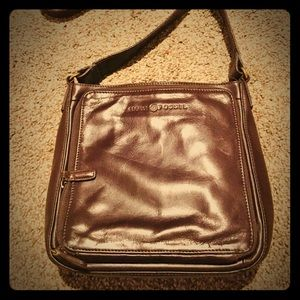 Brown Leather Cross Body Fossil Purse